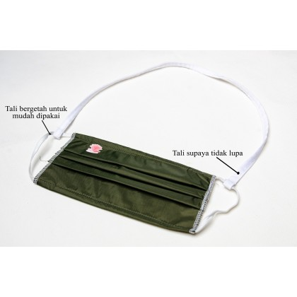 Washable 3 Ply Mask with Filter & Strap