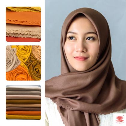 Hijab Bawal Diamond Neda (Neutral Earthy Series)