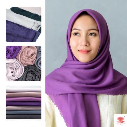 Hijab Bawal Diamond Neda (Purple Grey Series)